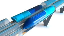 Hyperloop transport, artwork