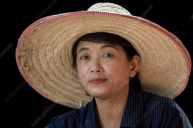 Portrait of a middle-aged Thai woman