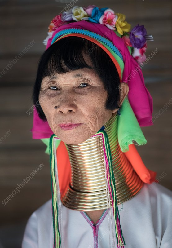 Elderly Kayan woman