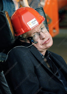 Stephen Hawking, British physicist, visiting CERN in 2006