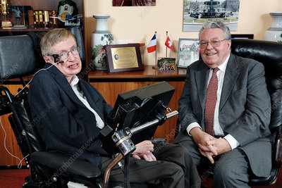 Stephen Hawking and Robert Aymar at CERN in 2006