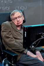 Stephen Hawking lecturing at CERN in 2009