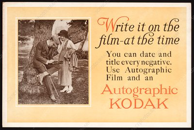 Autographic Kodak advertisement, 1914