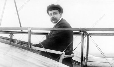 Bleriot in his monoplane, early 20th century