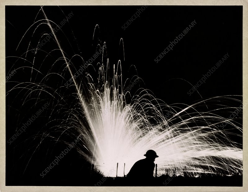 Phosphorus night bombing during the First World War
