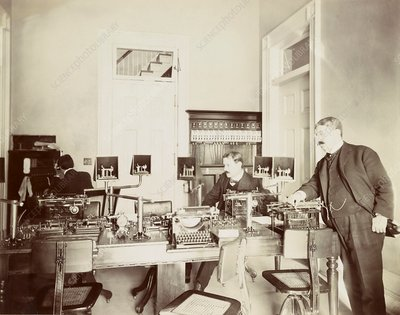 White House telegraph office, 1900s