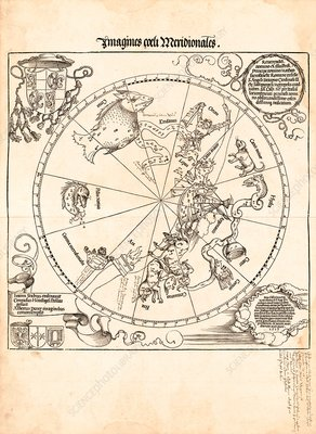 Southern star chart, 1515