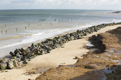 Coastal erosion in Happisburgh, Norfolk