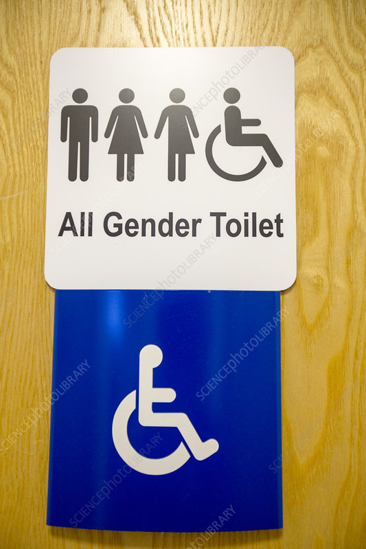 An all gender toilet