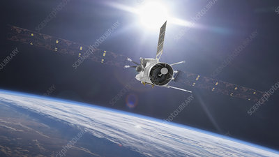 BepiColombo spacecraft flyby of Earth, illustration