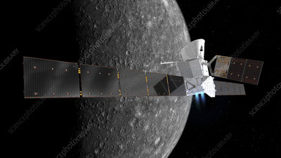 BepiColombo spacecraft at Mercury, illustration