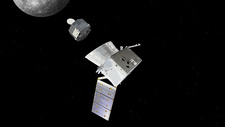BepiColombo spacecraft separation at Mercury, illustration