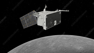 BepiColombo planetary orbiter at Mercury, illustration
