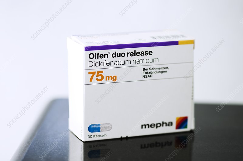 Diclofenac nonsteroidal anti inflammatory drug packaging