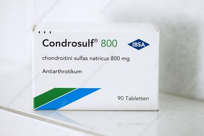 Packet of Condrosulf osteoarthritis drug