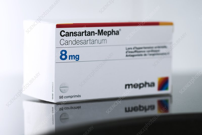Packet of Cansartan high blood pressure drug