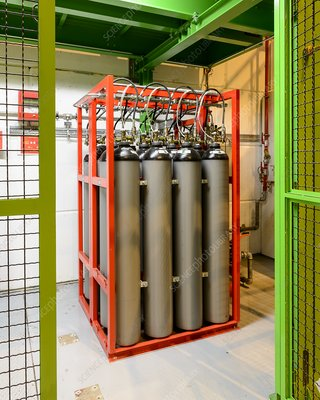 Large Hadron Collider gas canisters