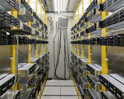 Large Hadron Collider server room