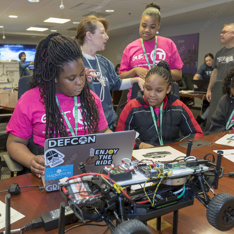 Fiat Chrysler technology day for girls, USA