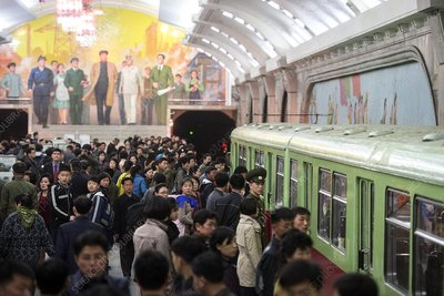 Metro in Pyongyang, North Korea