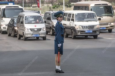 Traffic policewoman, North Korea