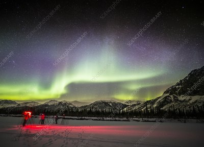 Photographers and the Aurora, Alaska
