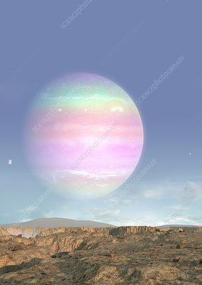Exoplanet Kepler 1625-b, illustration