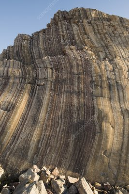 Rock formation, Segelsallskarpet, Greenland