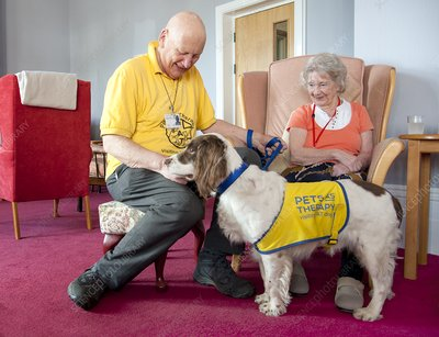 Care home pet therapy