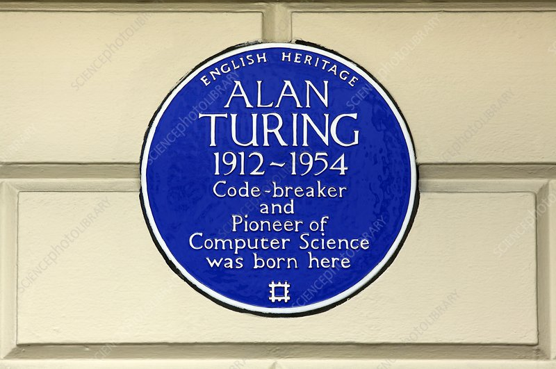 Alan Turing plaque, London