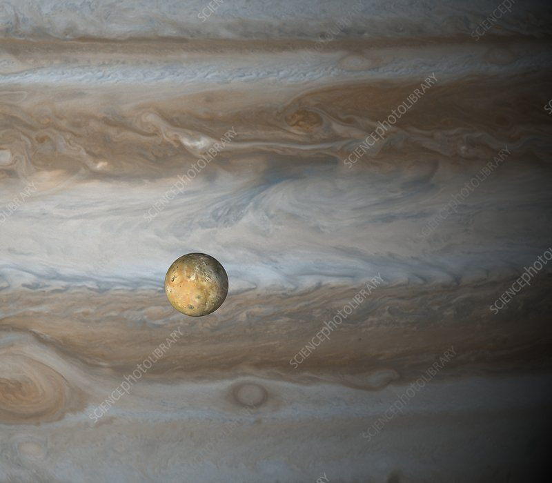 Io and Jupiter, illustration