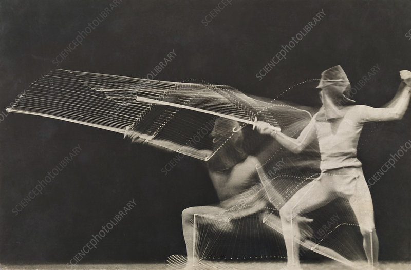 Motion study of fencing, 1906