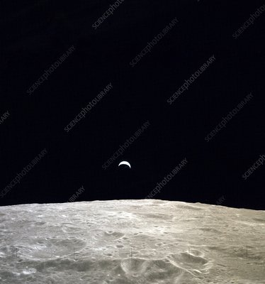 Earthrise during Apollo 12, 1969