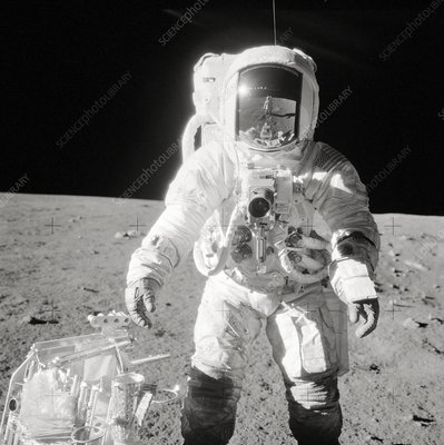 Apollo 12 astronaut Bean on the Moon, 1969