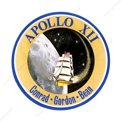 Apollo 12 official crew badge, 1969