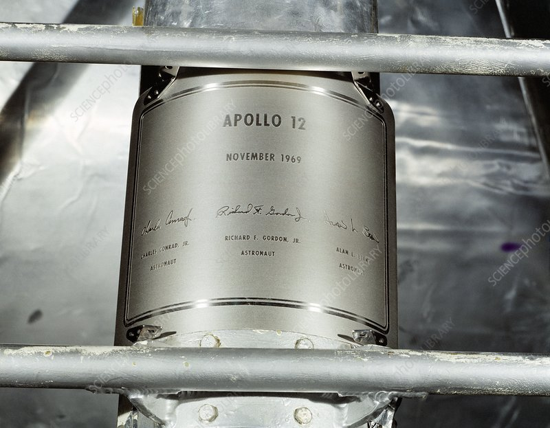 Apollo 12 landing plaque, 1969