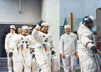 Apollo 12 crew launch countdown, 1969
