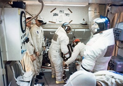 Apollo 12 crew launch preparations, 1969
