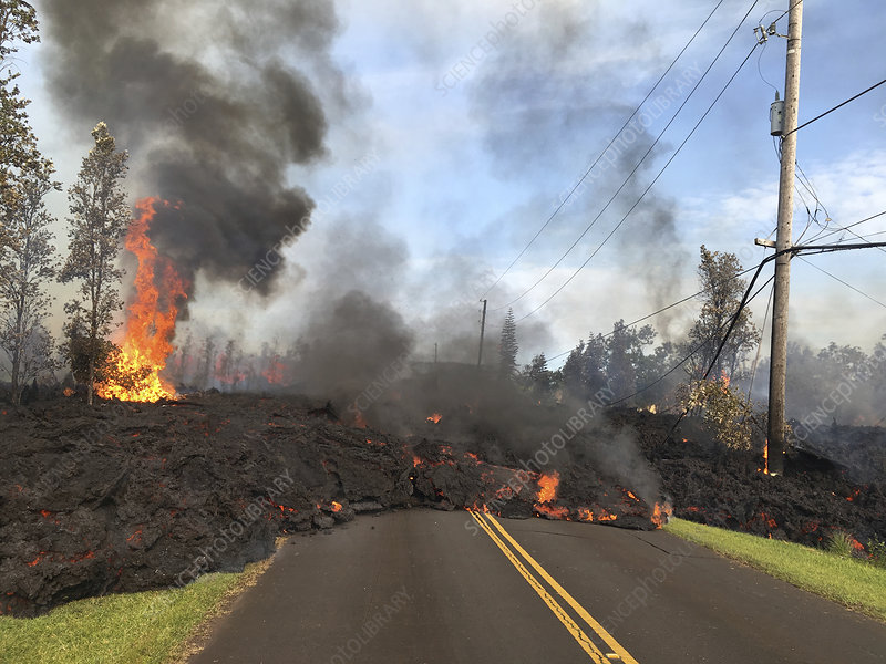 Lava flow due to Kilauea eruption, May 2018