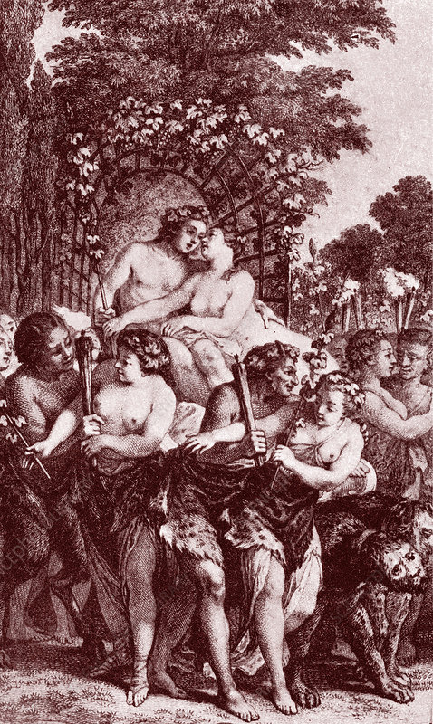 Bacchus and Ariadne, 19th Century illustration