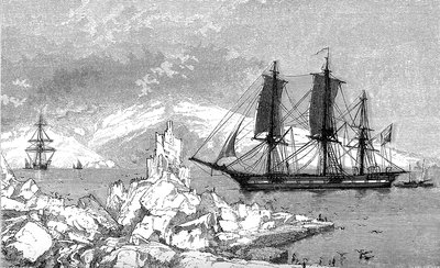 D'Urville in the Antarctic, 19th Century illustration