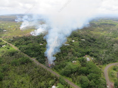 Kilauea eruption fissures, May 2018