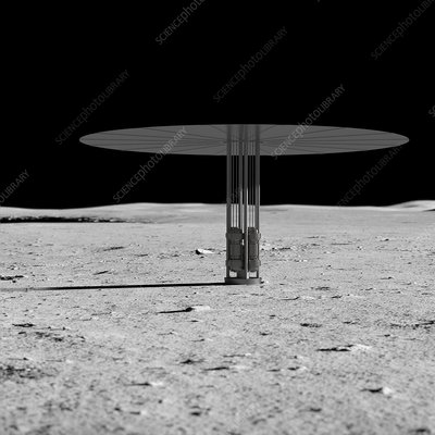Nuclear fission power system on the Moon, illustration