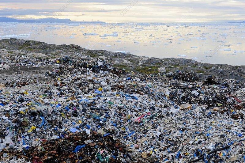 Arctic rubbish dump, view
