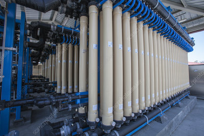 Microfiltration at water treatment facility, California, USA