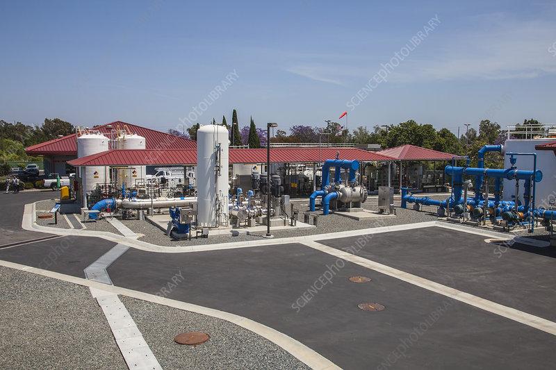 Water treatment facility, California, USA