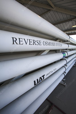 Reverse osmosis system at water treatment facility, Californ