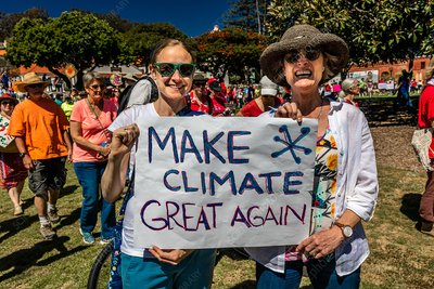 Earth Day protest, California, USA