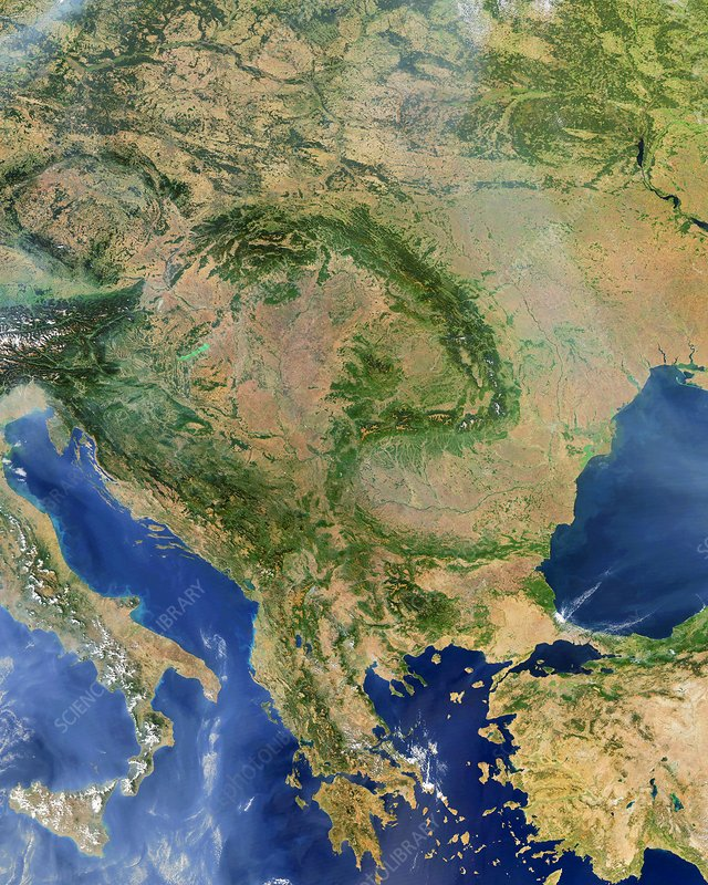 Central Europe, satellite image