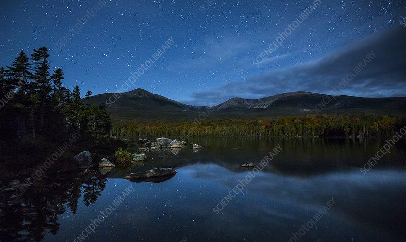 Stars over Mount Katahdin, USA